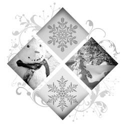 snowflakes as a symbol of christmas celebrating holidays