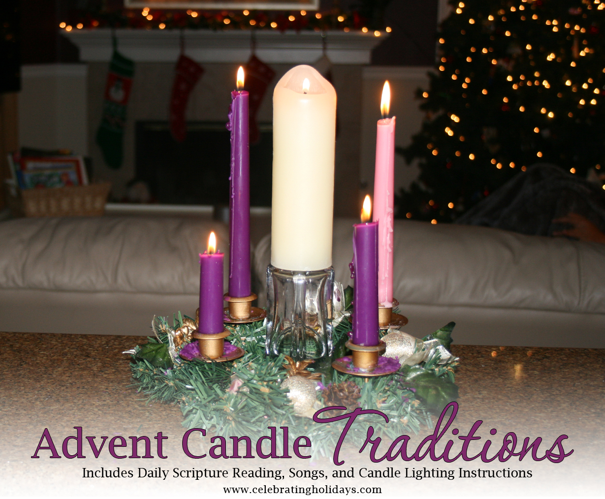 Advent Wreath And Candle Lighting Celebrating Holidays