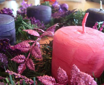 Advent DIY Pillar Candles