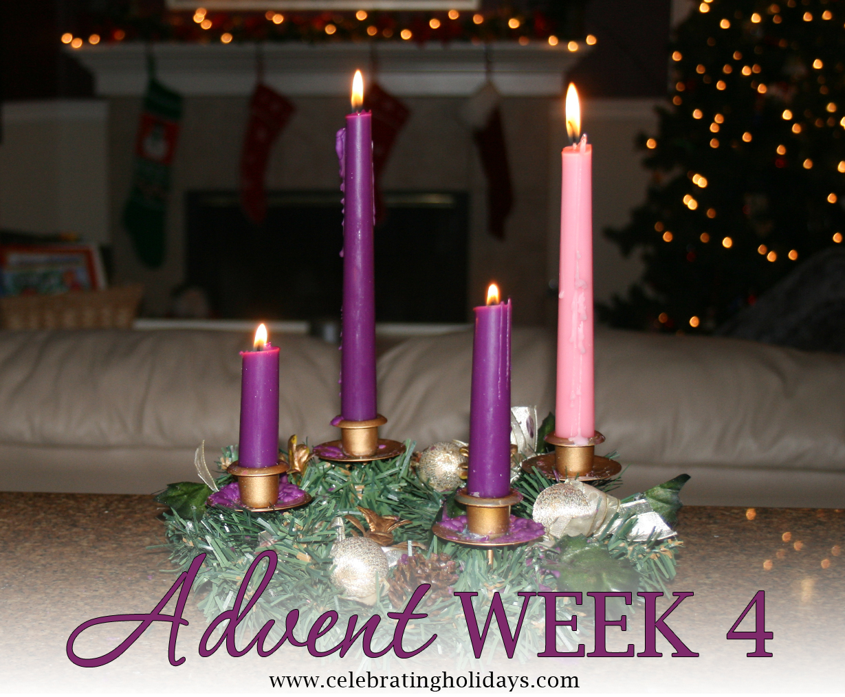 Advent Week 4 Reading, Music, and Candle Lighting