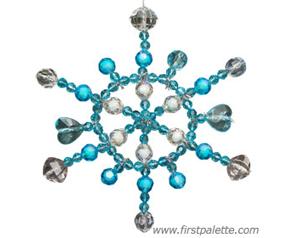 Beaded Pipe Cleaner Snowflake Ornament