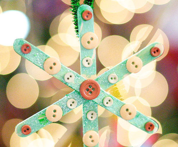 Popsicle Snowflake Ornament