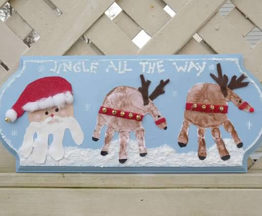 Handprint Characters Christmas Craft