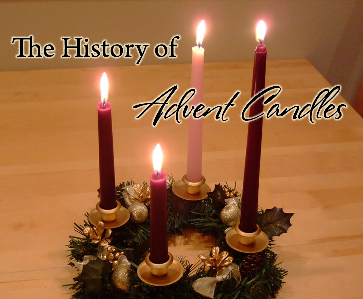 history of advent wreath candles celebrating holidays