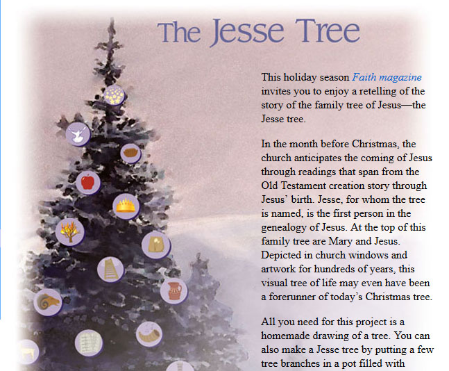 printable images and devotions for jesse tree - Christmas Devotional Stories