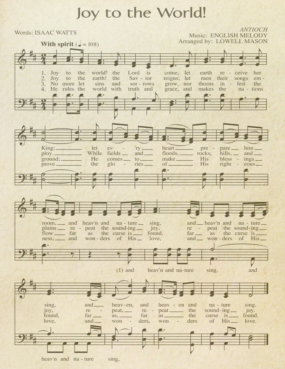 image relating to Free Printable Vintage Christmas Sheet Music named Free of charge Printable \u201cAged\u201d Audio Sheets Celebrating Vacations