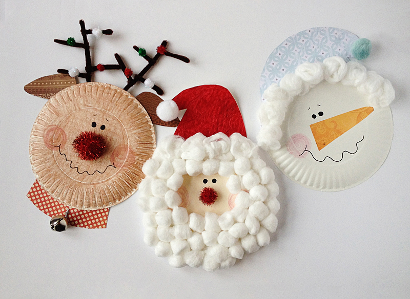 Paper Plate Christmas Characters Craft