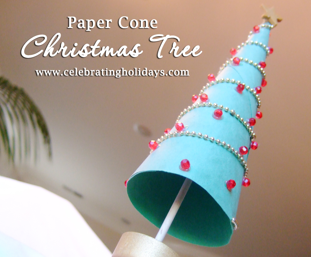 Diy Cone Christmas Trees.Paper Cone Christmas Tree Diy Craft Celebrating Holidays