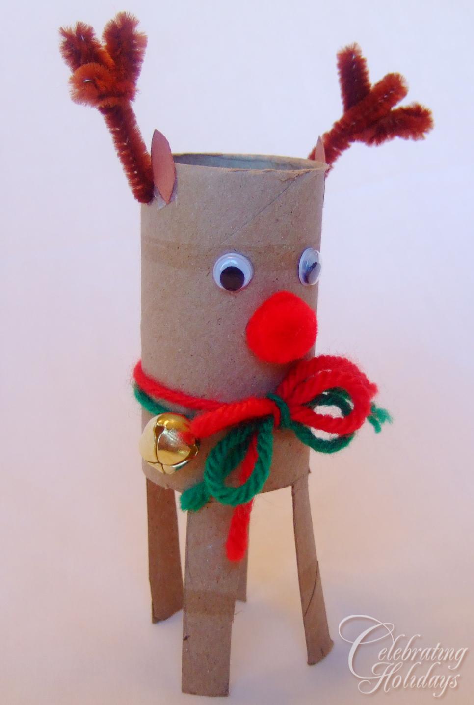 toilet paper tube christmas craft celebrating holidays