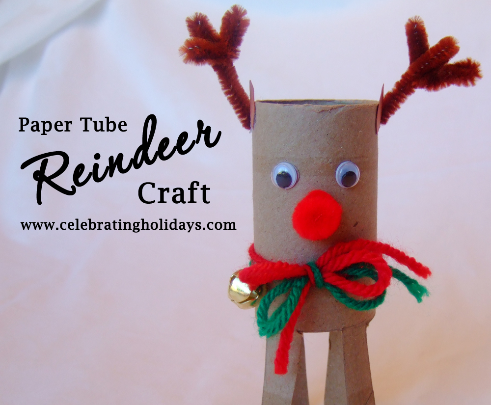 Toilet paper tube christmas craft celebrating holidays for Christmas crafts out of paper