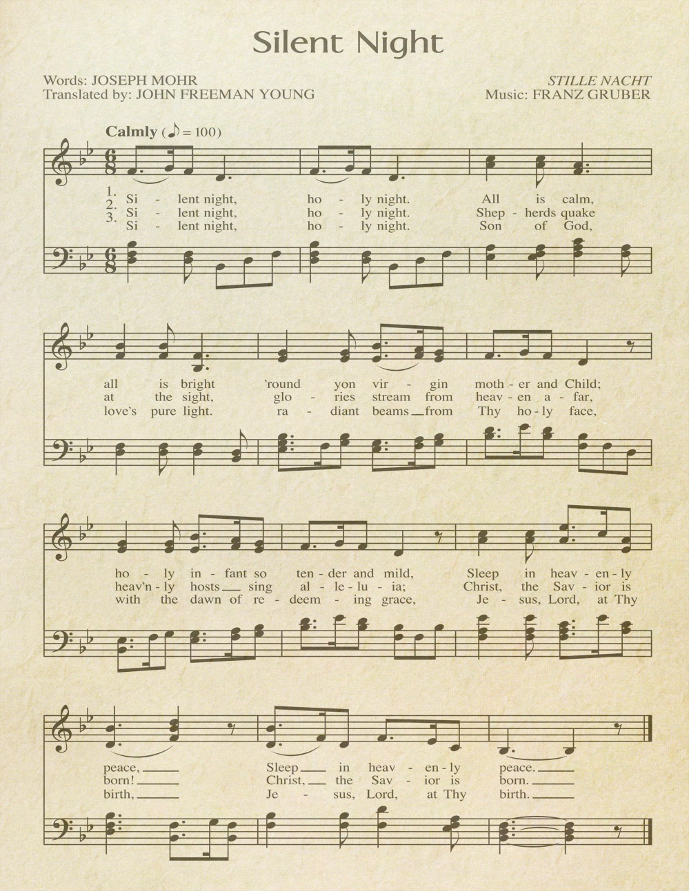 picture relating to Free Printable Vintage Christmas Sheet Music known as Absolutely free Printable \u201cAged\u201d Songs Sheets Celebrating Holiday seasons