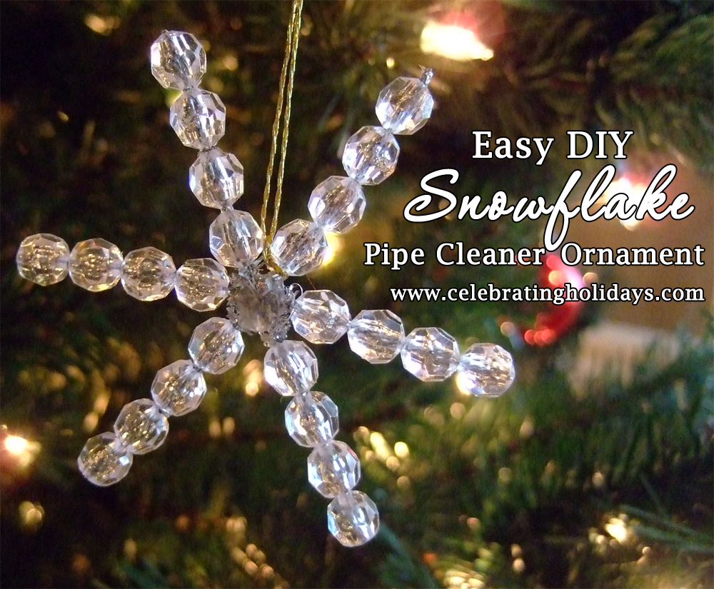 Chenille Stem Snowflake Craft Celebrating Holidays
