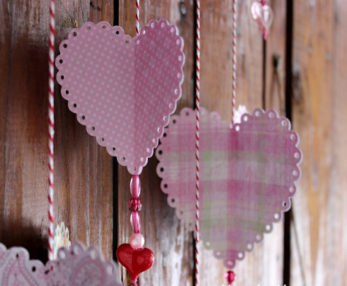 3D Hanging Hearts
