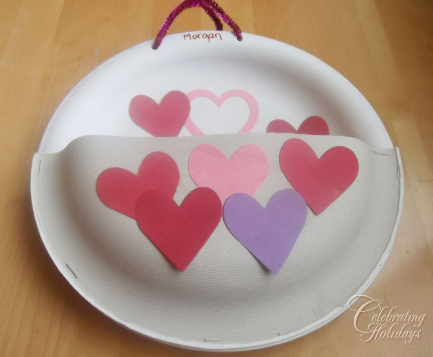Valentine Card Holder Supplies 2 Paper Plates heavy duty & Valentineu0027s Day Heavy Duty Paper Plate Card Holder | Celebrating ...