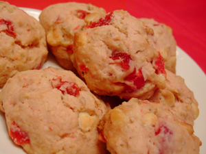 White Chocolate Cherry Scones Recipe | Celebrating Holidays