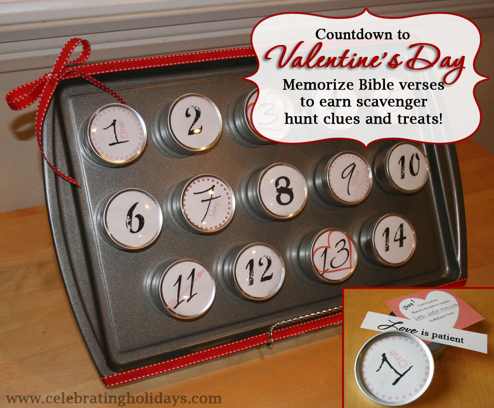 A Bible Verse and Scavenger Hunt Countdown for Valentine's
