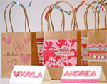 Valentine Gift Bag with Decorative Paper