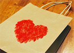 Finger Paint Heart Gift Bag