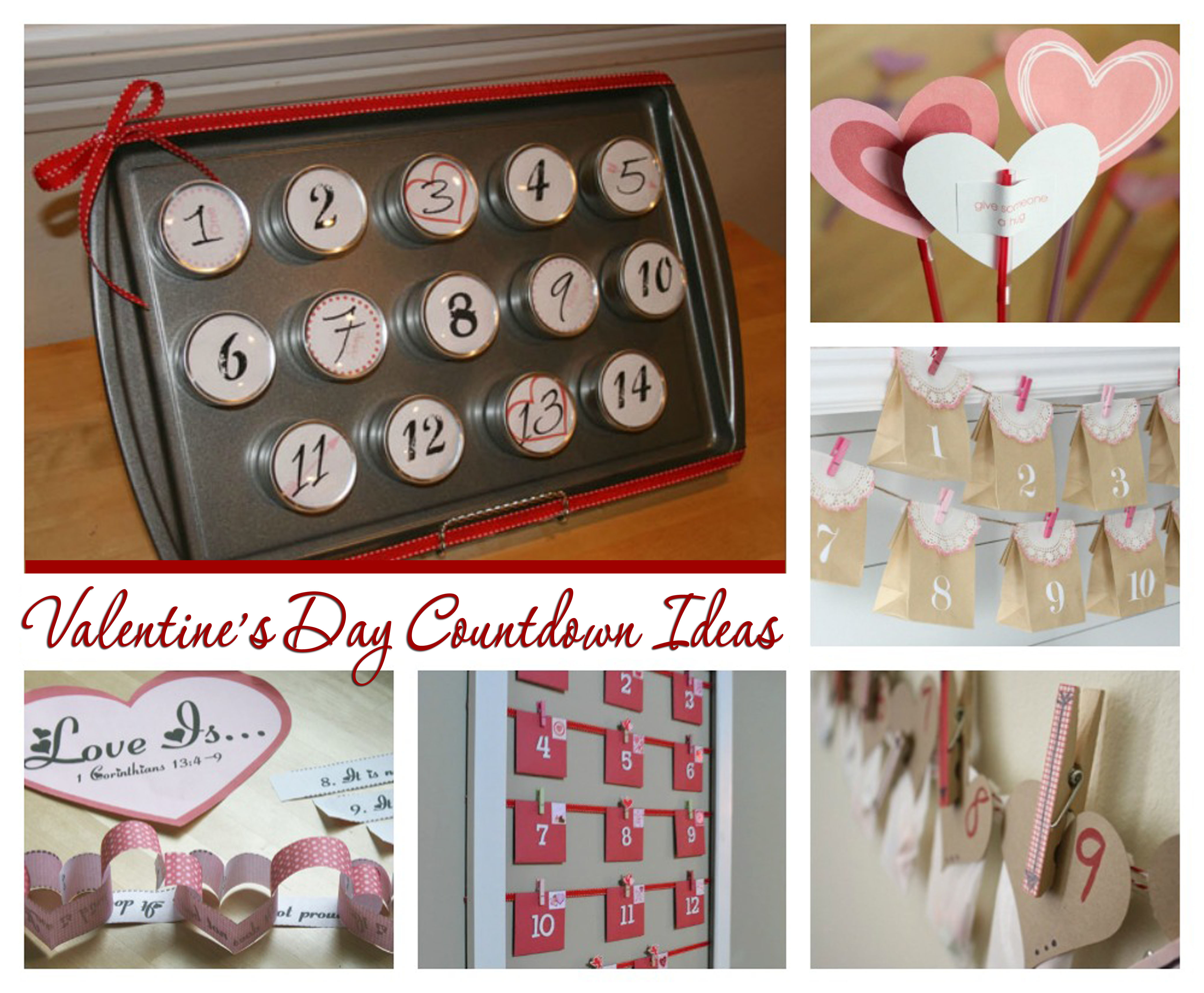 DIY Valentine's Day Countdown Ideas
