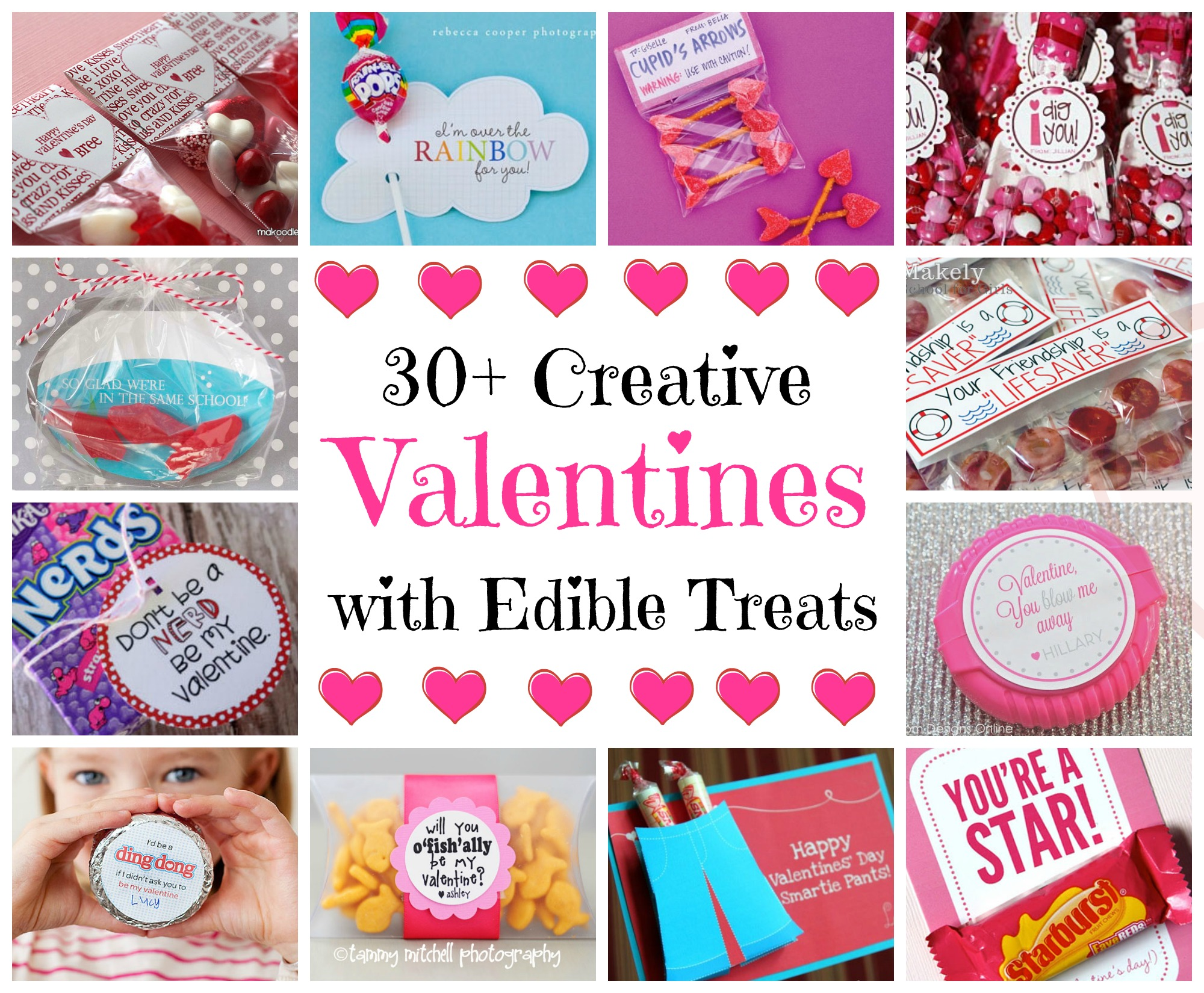 Valentines With Edible Treats