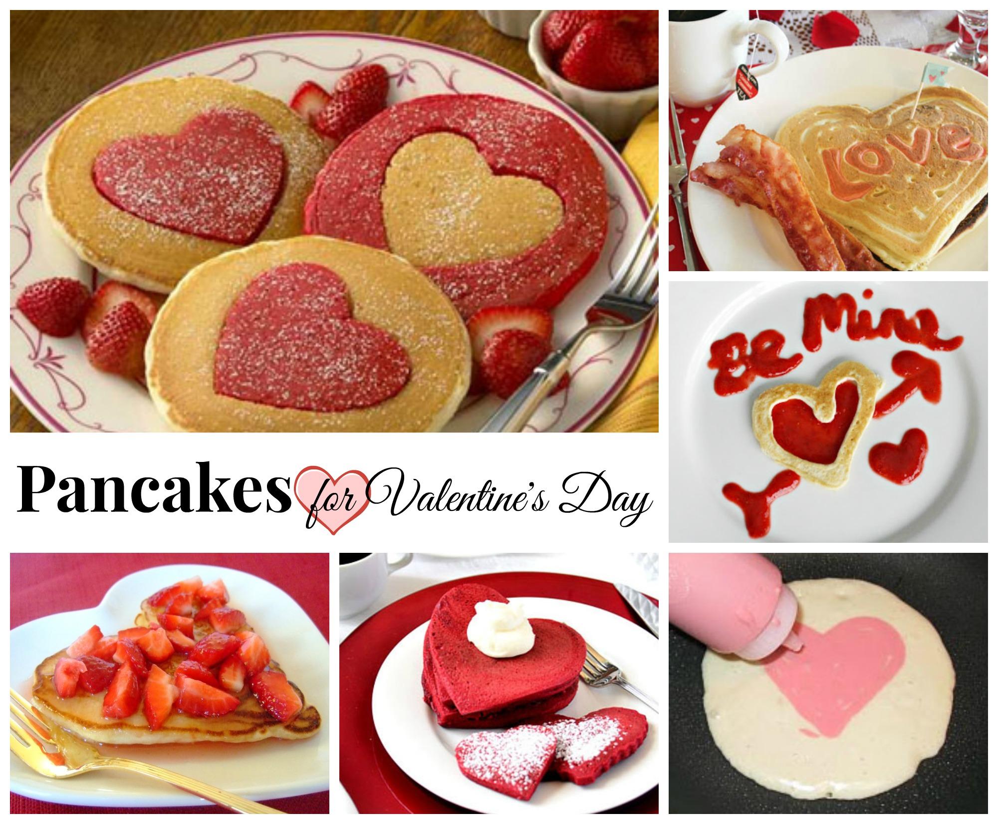 valentines day pancakes - Valentines Day Breakfast Ideas