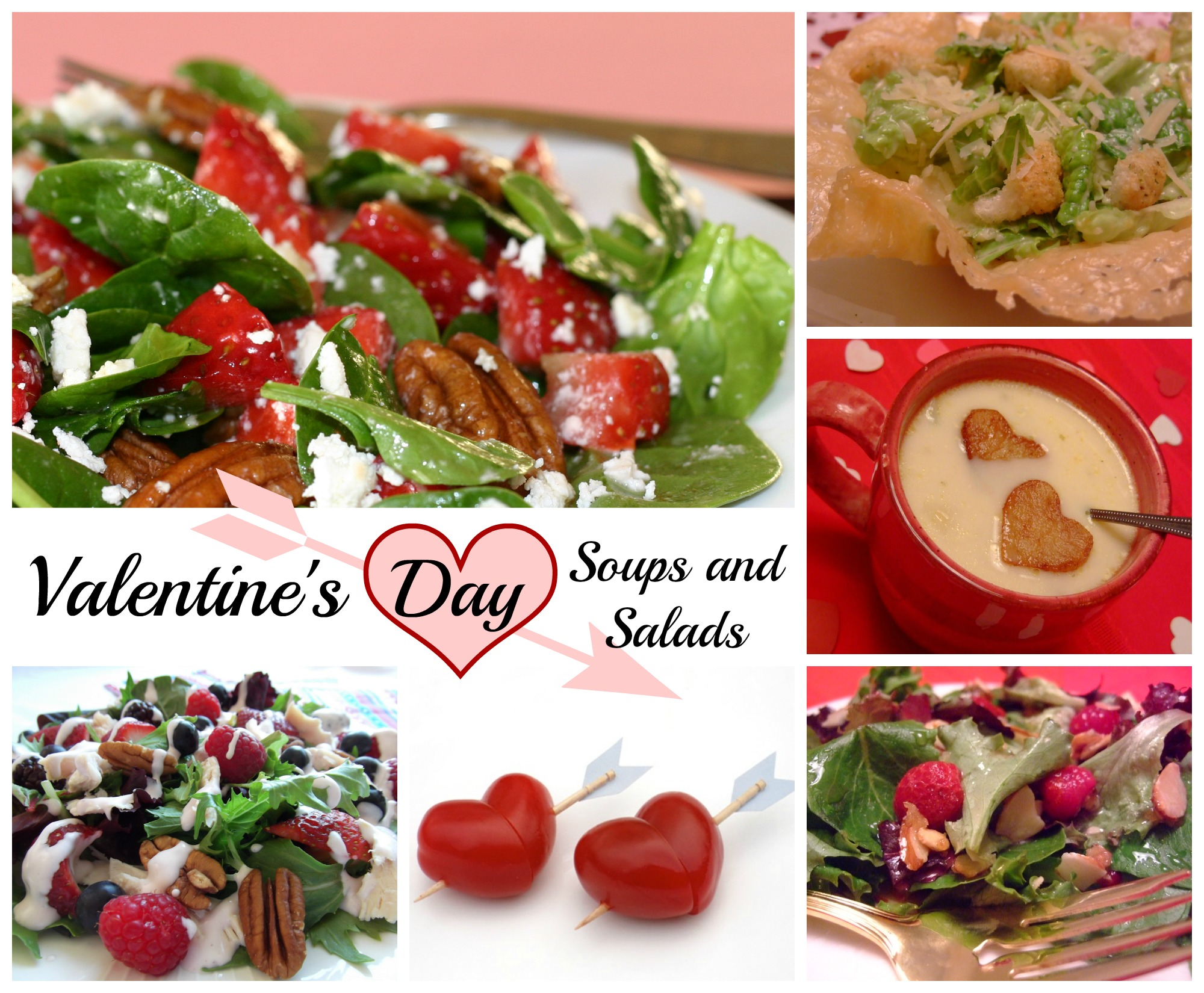 Valentine's Day Soup and Salad Ideas