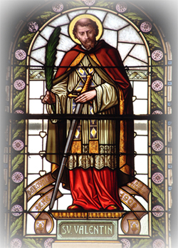 Stained Glass Image of St. Valentine