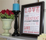 Valentine's Day Framed Art Ideas