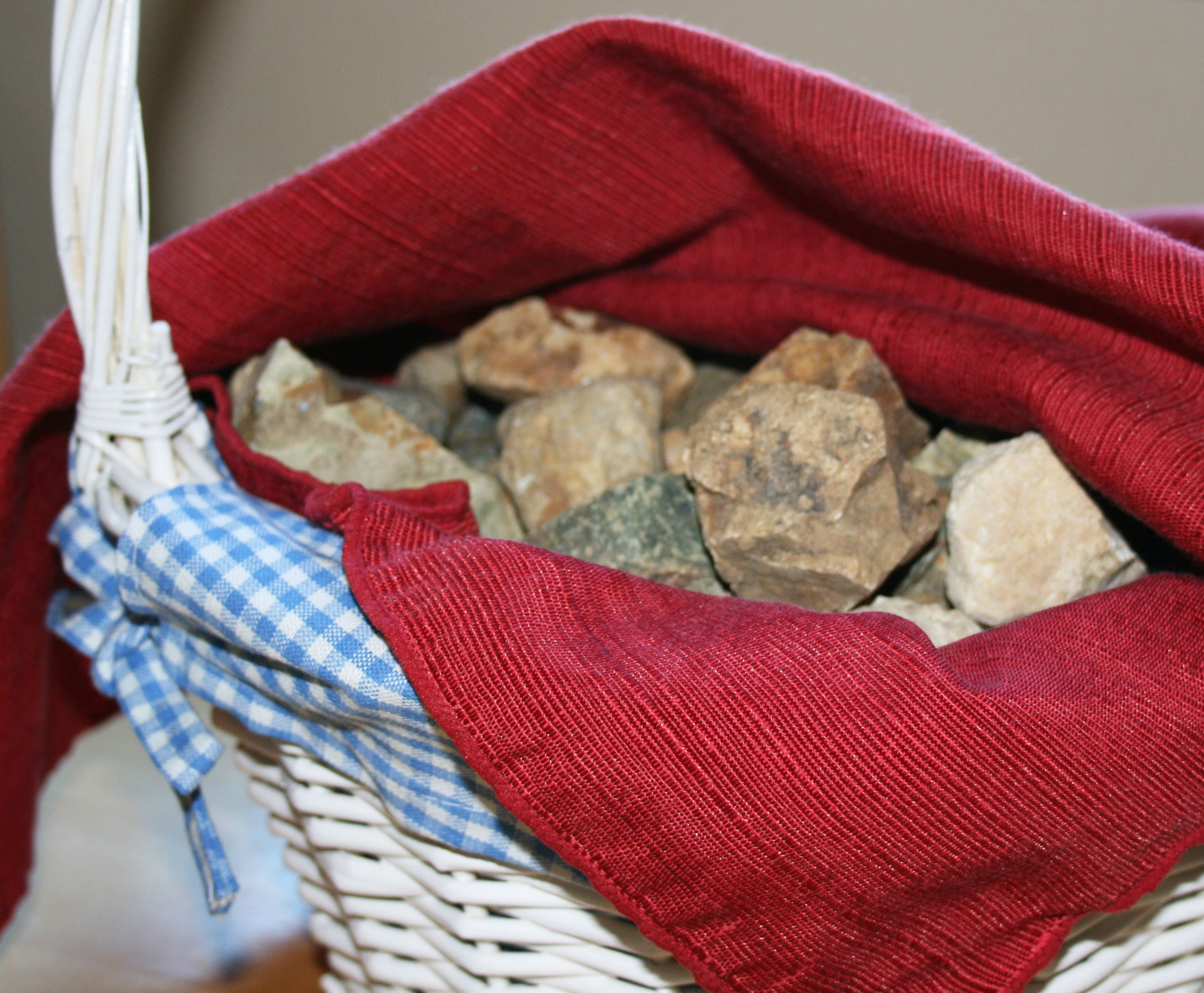 Basket of Rocks for an Easter Tradition
