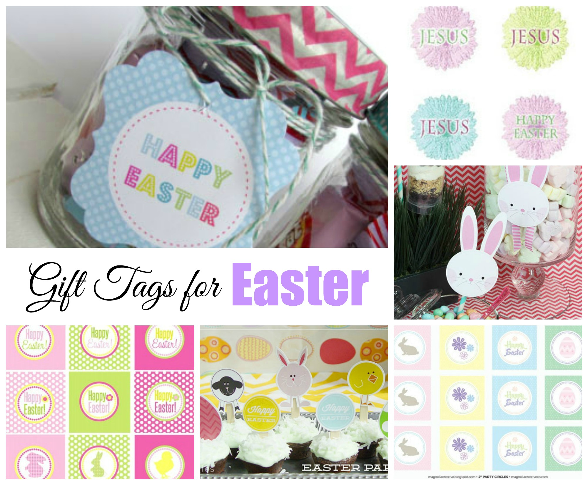Easter free printable gift tags celebrating holidays easter free printable gift tags negle Images