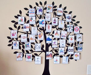 Jesus Tree for Counting 40 Days of Lent