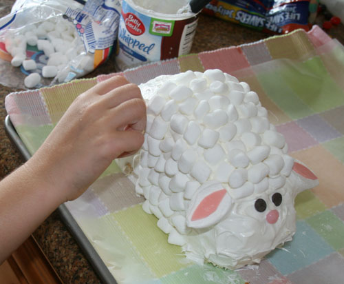 Decorating Lamb Cake