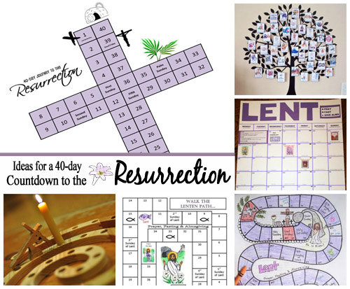 Countdown Ideas for the 40 Days of Lent