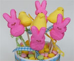 Bunny and Chick Peeps Pops