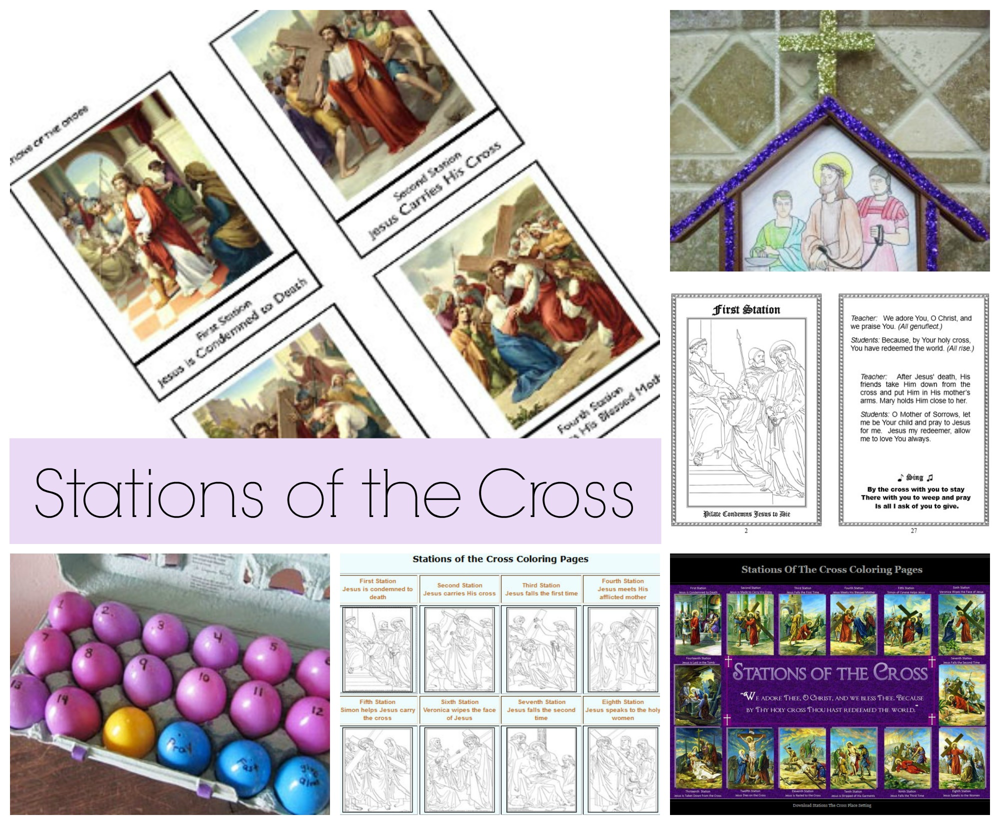 picture about Stations of the Cross Prayers Printable referred to as Stations of the Cross Celebrating Holiday seasons