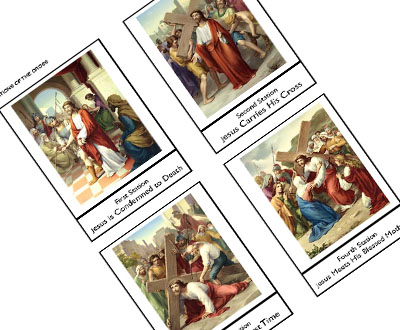 picture regarding Printable Stations of the Cross identify Stations of the Cross Celebrating Vacations