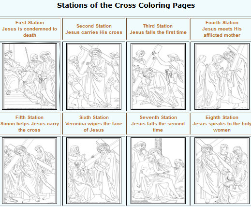 Stations Of The Cross Coloring Pages For Preschoolers