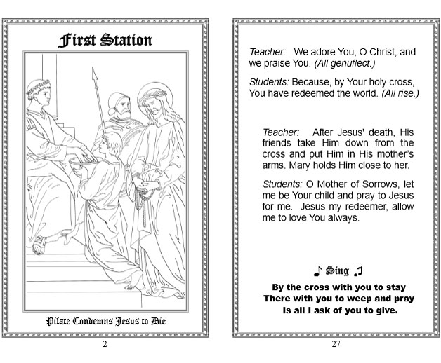 picture relating to Stations of the Cross Prayers Printable referred to as Stations of the Cross Celebrating Vacations