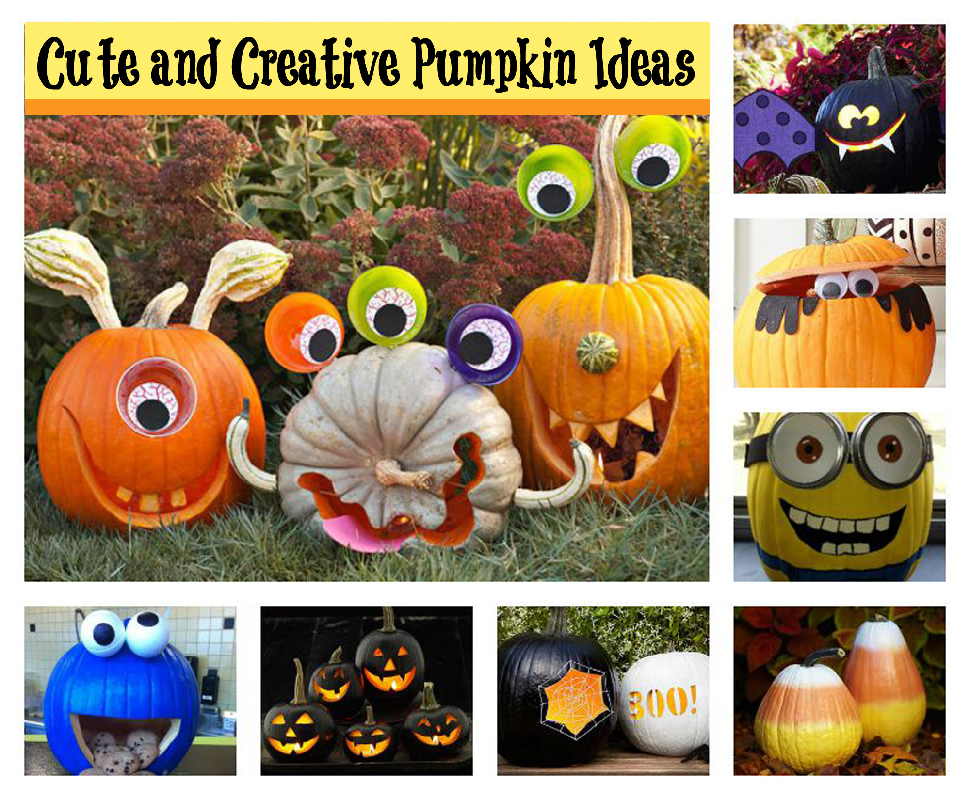 Cute Pumpkin Carving Ideas Now Thatu0027s One Happy