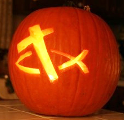 Pumpkin carving templates celebrating holidays