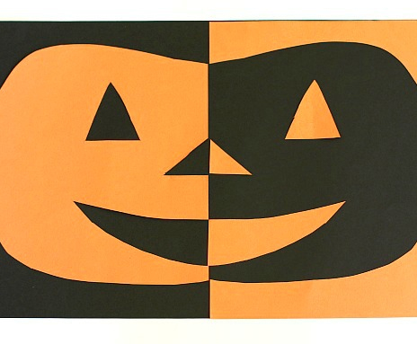 Pumpkin Cut Out (Positive and Negative Space)