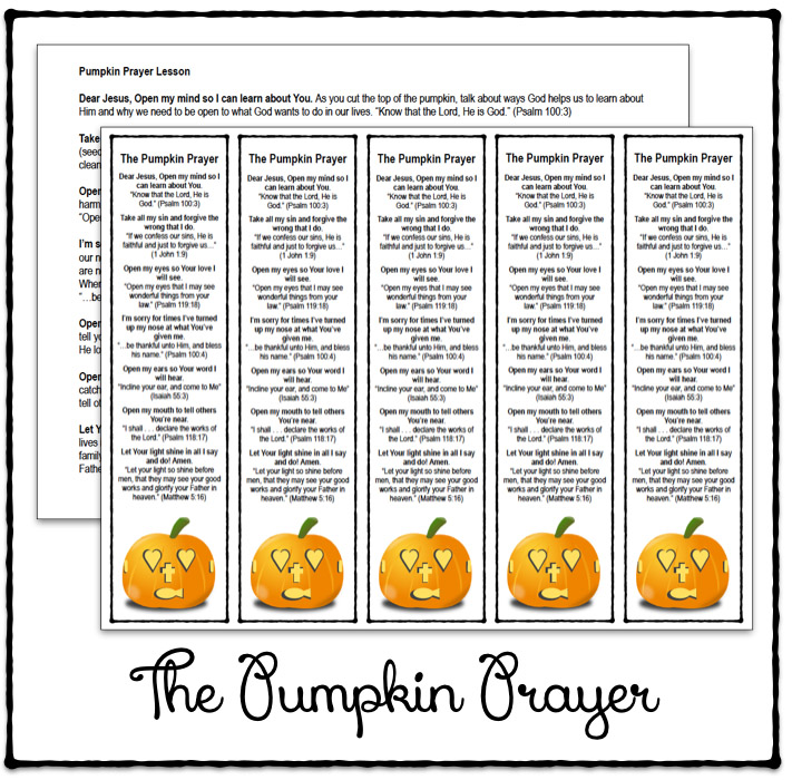 Pumpkin Prayer Poem Celebrating Holidays