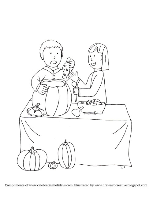Cool Pumpkin Carving Coloring Page With Pumkin Coloring Page