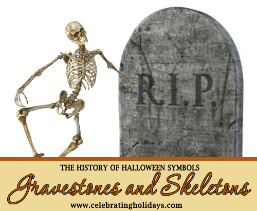 Halloween Skeletons and Tombstones