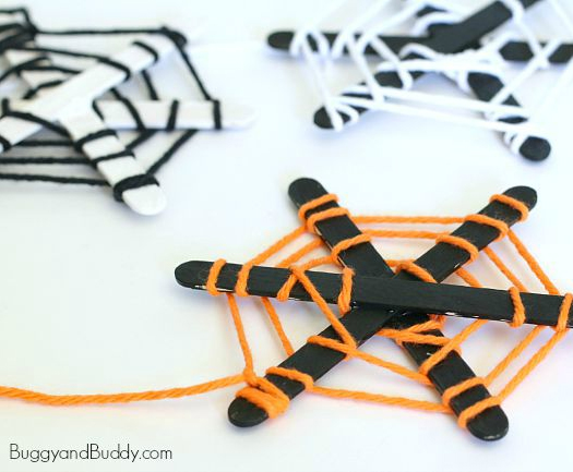 Spider Web Craft Sticks