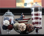 DIY Apothecary Jar for 4th of July