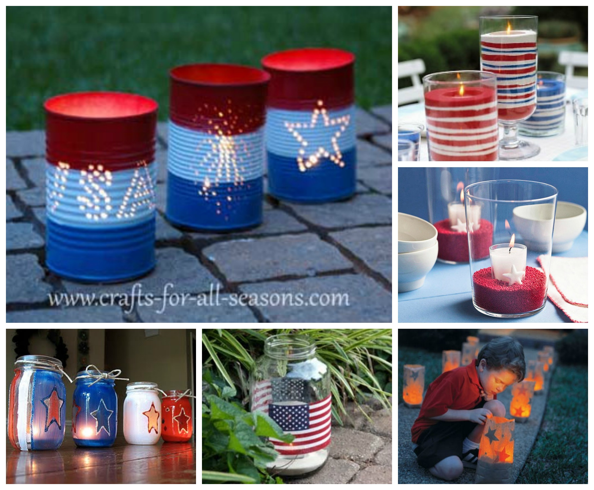 July 4th Candle and Luminary Decorating Ideas