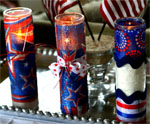 DIY Tall Firecracker Candles for July 4th