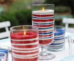 Layered Sand Patriotic Candles