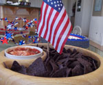 Patriotic Chips and Dip for July 4th